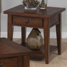 Oak End Table Amazon Com Square End Table With Drawer Kitchen U0026 Dining