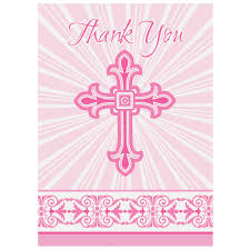 religious thank you cards radiant pink cross religious thank you cards communion and