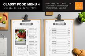 pages menu template food menu 4 illustrator template by luuqas design