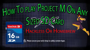 how to install project m how to install project m on any sized sd card hackless homebrew