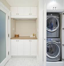 Laundry Room Wall Storage by Stacked Washer Dryer Laundry Room Traditional With Basket Storage