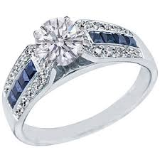sapphire accent engagement rings engagement rings with blue sapphires polyvore