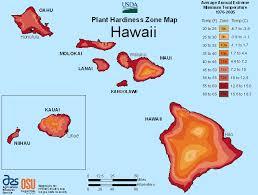 Weather Zones For Gardening - map of hawaii plant growing zones