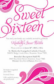 Invitation Card Formal Sweet Sixteen Invitation Card Invitation Templates