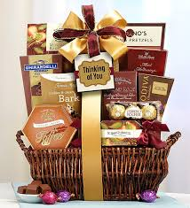 thinking of you gift baskets of you deluxe balsam gift basket
