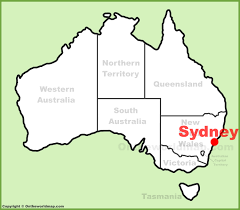 sydney australia map sydney location on the australia map