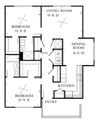 bedroom flat architectural drawing duashadicom floor plan 2