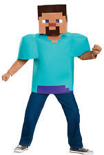 Minecraft Halloween Costume Minecraft Steve Classic Child Costume Halloween Kids Boys Mask