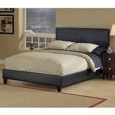 fingerhut alcove upholstered platform bed queen black leather