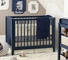 Mini Crib Sets Emerson Mini Crib 38 Mattress Set Blue Crib Mattress Sets