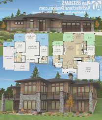 Craftsman Style Homes Plans Basement Creative Prairie Style House Plans With Walkout