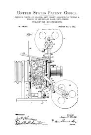 movie projector patent patent print wall decor movie poster