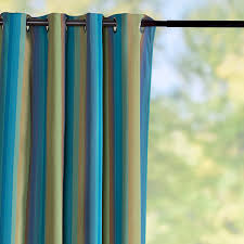 Sunbrella Patio Curtains Sunbrella Outdoor Curtain Panel Astoria Lagoon Stripe