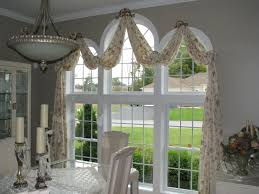 Window Scarves For Large Windows Inspiration Interior Farm House Floral Patterned Window Valance Combined With