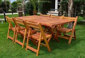 Outdoor Folding Dining Tables 20 Varieties Of Rectangular Folding Outdoor Dining Tables Home