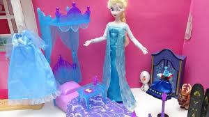 disney princess frozen bedroom dress up barbie morning routine