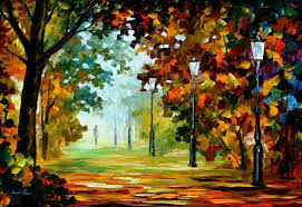 landscape painting artists leonid afremov on canvas palette knife buy original