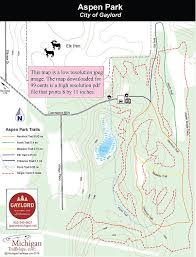 aspen map aspen park michigan trail maps