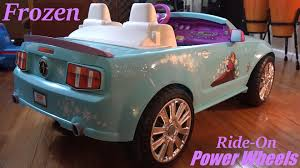 pink power wheels mustang disney frozen ford mustang ride on power wheels walk around