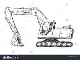 doodle excavator drawing stock illustration 171773558 shutterstock