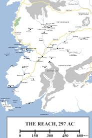 Map Westeros Geographic Map 10 The Reach Atlas Of Ice And Fire