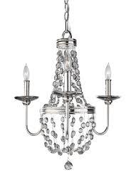 f2813 3pn 3 light mini chandelier polished nickel