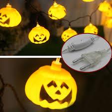 online shop 5m 20pcs pumpkin halloween string lights yellow color