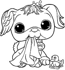 free cartoon littlest pet shop coloring pages kids