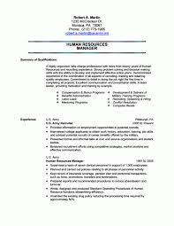 Resume For Military Army Recruiter Resume Human Resources Resume Examples Resume
