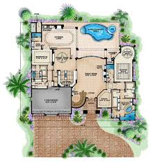 mediterranean style house plan 5 beds 7 baths 5474 sq ft plan floor plan main floor plan