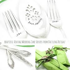 wedding cake servers beautifully sted and personalised vintage silver wedding