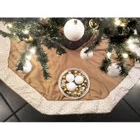 artofabric s dupioni tree skirt plaid decoration