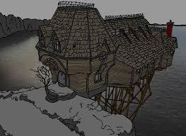 cliffside house by solidishness on deviantart
