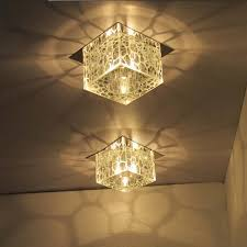 Flush Mounted Lighting Fixtures Modern 5 Square Water Cube Ceiling Ls Hallway Flush
