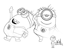 free printable minion coloring pages free coloring pages