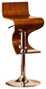 Adjustable Bar Stool With Back Modern Swivel Adjustable Barstool With Curved Seat And Back