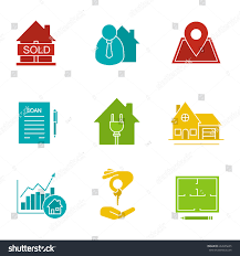 real estate market glyph color icon stock vector 664565635