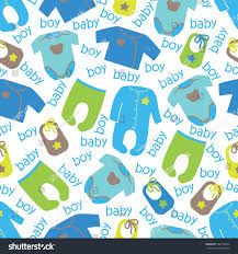 colorful clothes newborn baby boy seamless stock vector 182576654