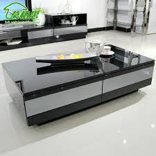 High End Coffee Tables Mobo Si Simple Modern Coffee Table Drawer Gray Mirror Tv Cabinet