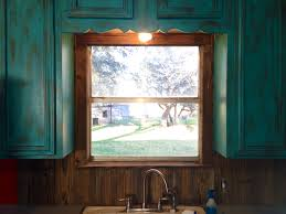 Barnwood Kitchen Cabinets Barnwood Backsplash To Match My Rustic Turquoise Cabinets