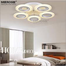 discount led ring ceiling light fixture flush mounted acrylic