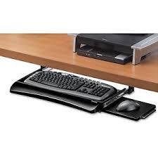 Under Desk Laptop Shelf Under Desk Keyboard Tray Ebay