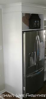 how to make your fridge look like a cabinet built in refrigerator cabinets how to make your fridge look like a