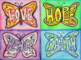 inspirational words float above butterfly wings to create colorful