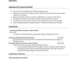 Laboratory Skills Resume Bold Design Ideas Biology Resume 9 Molecular Lab Resume Example