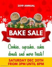 customizable design templates for bake sale event template