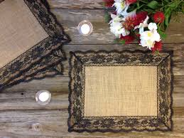 rustic placemats burlap and black lace wedding placemat