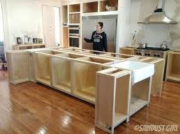 build a kitchen island building kitchen island with sink base cabinets diy using wall bar