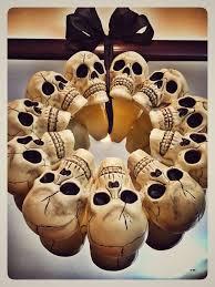 Halloween Skull Decorations Dollar Store Halloween Skull Wreath Decoration Funk To Fab