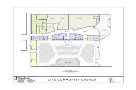 urban design living waters ministries life community church will have a christian book store main auditorium for over 400 people full time prayer room nursery and childrens meeting area